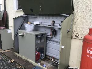 External oil boiler