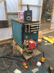 Poly tunnel warm air heater