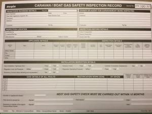 caravan gas certificate