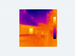 Heat loss through house wall