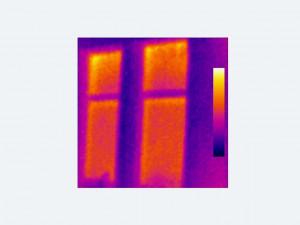 Heat loss through house window