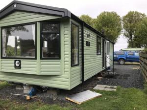 installation of new static caravan