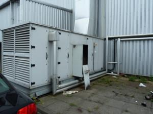 Gas fired air handling unit.